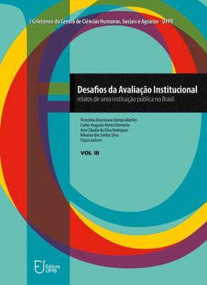 Capa para Desafios da avaliação institucional: relatos de uma instituição pública no Brasil - vol. 3