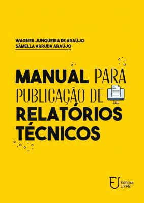 Capa para Manual para publicação de relatórios técnicos